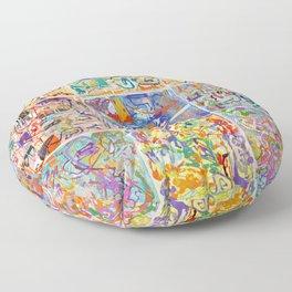 Shamanic Painting 1-9 Floor Pillow