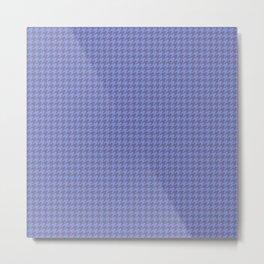 Dark Indigo Violet Houndstooth Pattern Metal Print