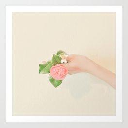 Flowers in hand Art Print