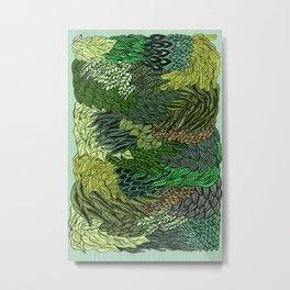 Leaf Cluster Metal Print