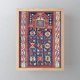 Karabagh Azerbaijan South Caucasus Prayer Rug Framed Mini Art Print