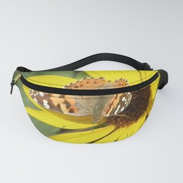 Painted Lady Butterfly Picks Pollen Fanny Pack