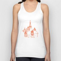 moscow Tank Tops featuring Moscow by OneOneTwo