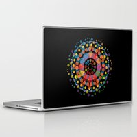 circles Laptop & iPad Skins featuring Circles by Scalifornian