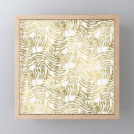 Gold Leaves 1 Framed Mini Art Print