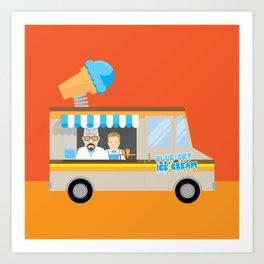 Breaking tradition - Walt and Jesse make ice cream Art Print