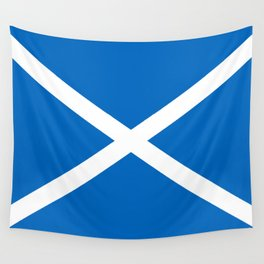 Blue and White Scottish Flag Wall Tapestry