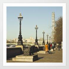 London Thames Art Print