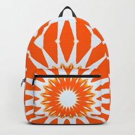 Orange Pinwheel Flowers Backpack