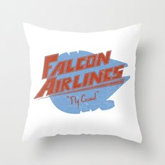 Falcon Airlines Throw Pillow