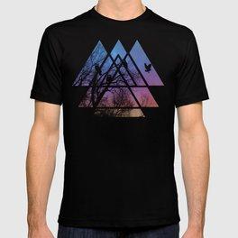 Night Wisdom - Sacred Geometry Triangels T-shirt