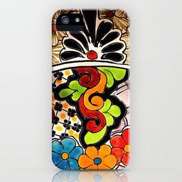 Beautiful Red and Green Talavera iPhone Case