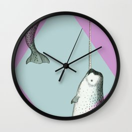 Narwhal Geometric Bright and Colorful Wall Clock