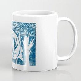 linocut trees print Coffee Mug