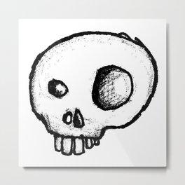 Happy Skull Metal Print