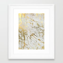Gold marble Framed Art Print
