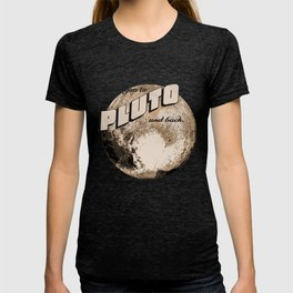 50s Postcard - love you to pluto and back T-shirt