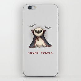 Count Pugula iPhone Skin