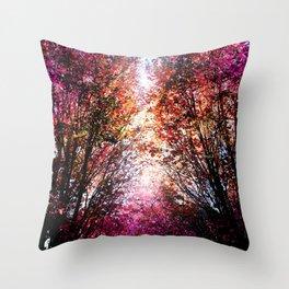 Pink Fire Throw Pillow