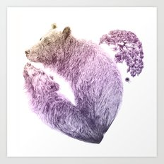 Bear your Heart v2 Art Print