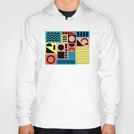 Neo Memphis Pattern 1 - Abstract Geometric / 80s-90s Retro Hoody