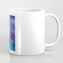 Single Boat On Moonlit Waters Coffee Mug
