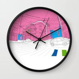 Pink city Wall Clock