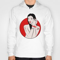 asia Hoodies featuring girl asia by Egudin