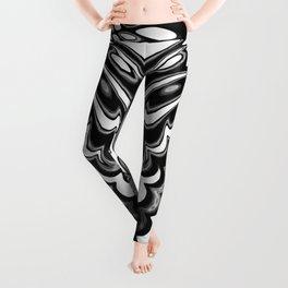 Black White   Leyana #2 Leggings
