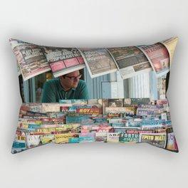 Newsstand Stand in Athens, Greece//Athenian Newsstand  Rectangular Pillow