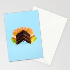 HAMBURGER CAKE Stationery Cards