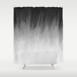 Ice Rays in a Black Sky Shower Curtain