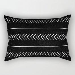Arrows & Lines - Weathered Black Rectangular Pillow