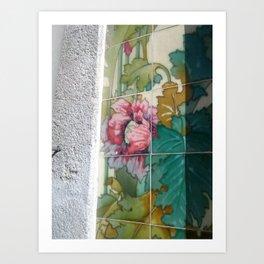 Porto Flower Tiles Art Print