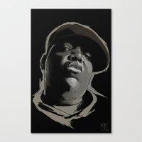 biggie smalls Canvas Prints featuring Biggie Smalls by Masood Tahir