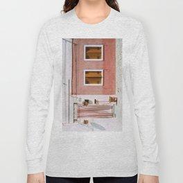 Sunny pink house Long Sleeve T-shirt