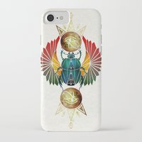 egyptian iPhone & iPod Cases featuring egyptian beetle by Manoou