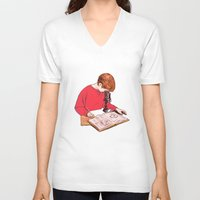 science V-neck T-shirts featuring Science! by Salgood Sam
