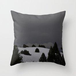 foggy landscape Throw Pillow