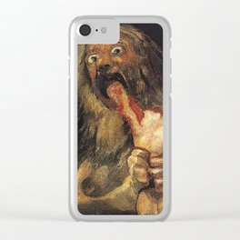 SATURN DEVOURING HIS SON - GOYA Clear iPhone Case