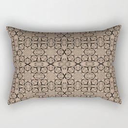 Hazelnut Geometric Rectangular Pillow