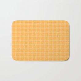 Bright Chalky Pastel Orange Tartan Plaid Bath Mat