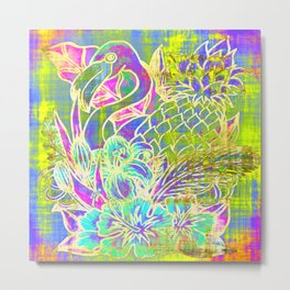 Pineapple Compound Metal Print
