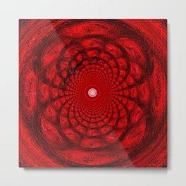 Calcareo in red Metal Print