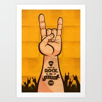 rock and roll Art Prints featuring Rock & Roll by Rodrigo Molina