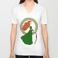 merida V-neck T-shirts featuring Merida  by Cantabile