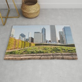 Lurie Garden One Spring Day - Chicago Photography Rug