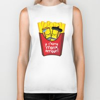 french fries Biker Tanks featuring French Fries by Kleviee