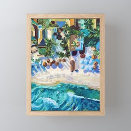 Tulum (Aerial) Framed Mini Art Print