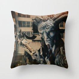 Horn Guy Presenting KNife Throw Pillow